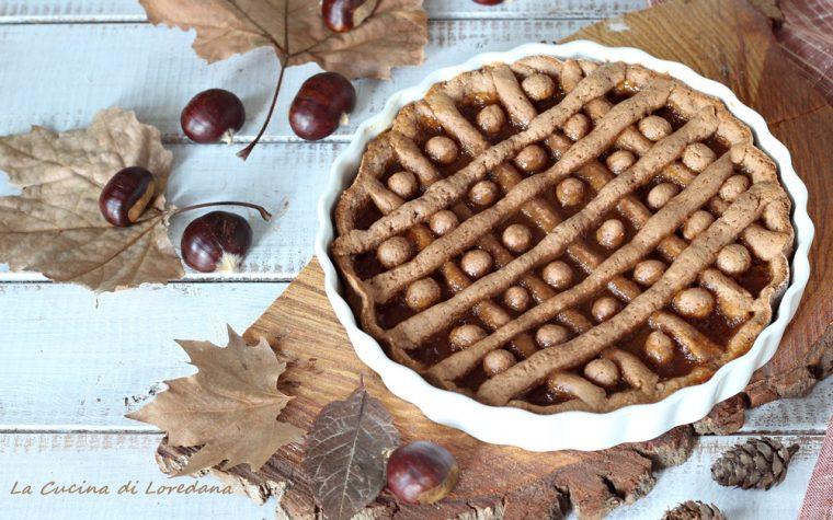 Crostata con farina di castagne e confettura