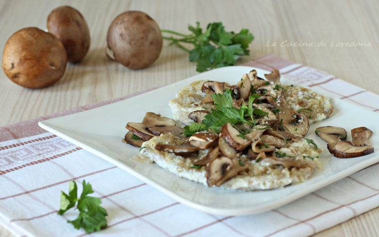 Scaloppine di vitello con funghi