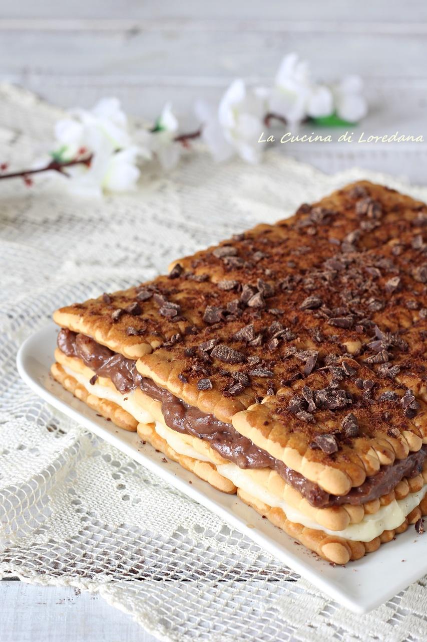 mattonella di biscotti e crema