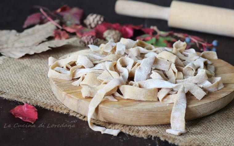 Tagliatelle con farina di castagne