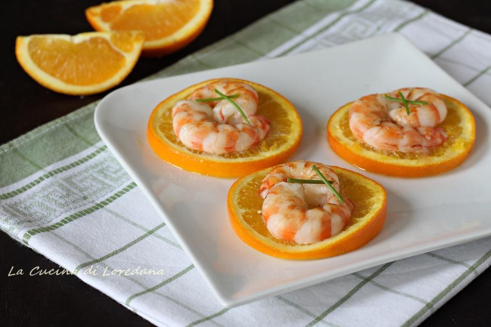 gamberi all'arancia