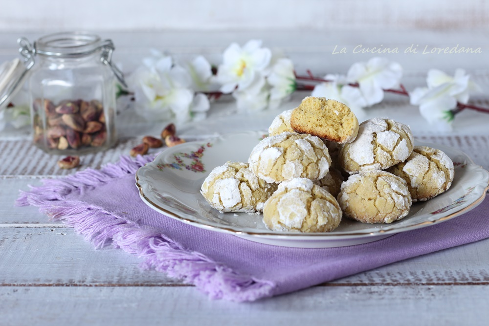 biscotti morbidi ai pistacchi