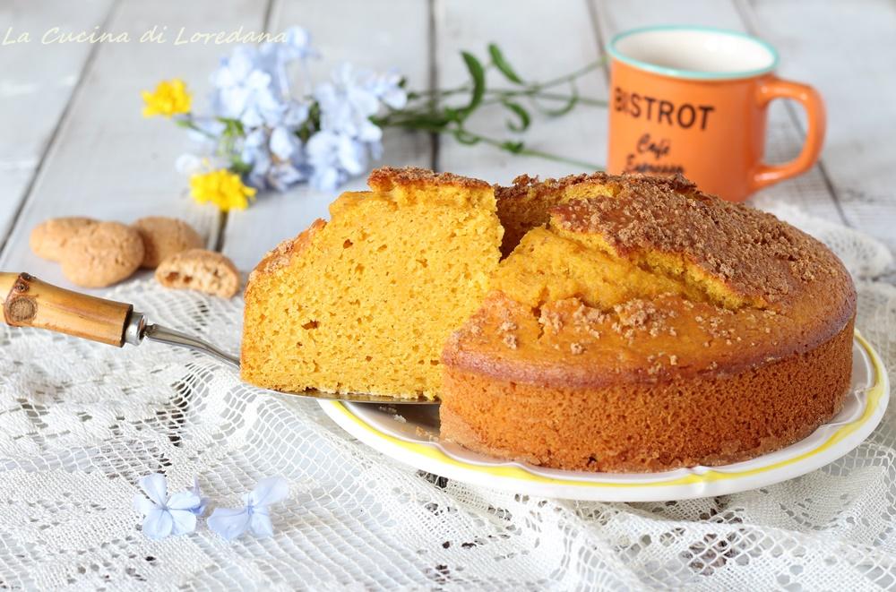 torta zucca e amaretti