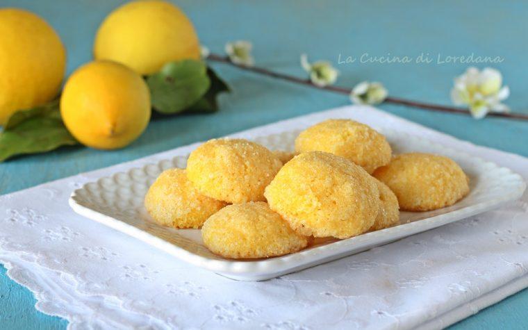 Biscotti al limone con farina di mais