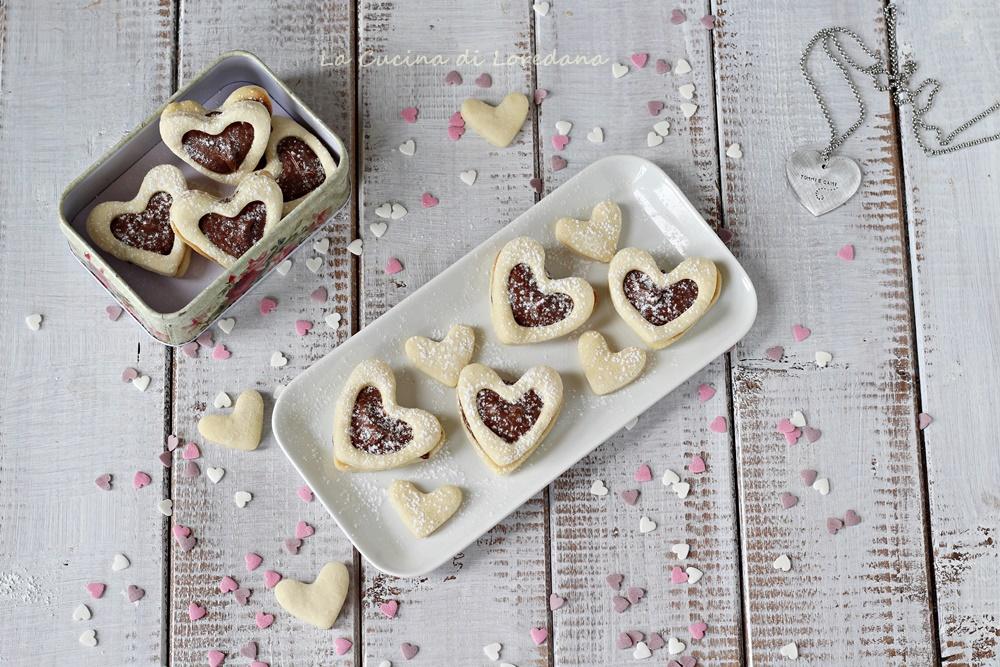 biscotti cuori alla nutella