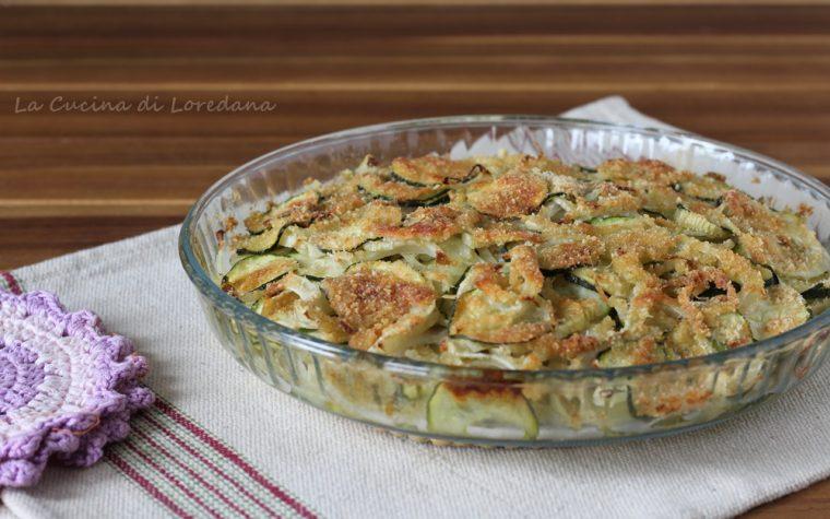 Finocchi e zucchine al forno