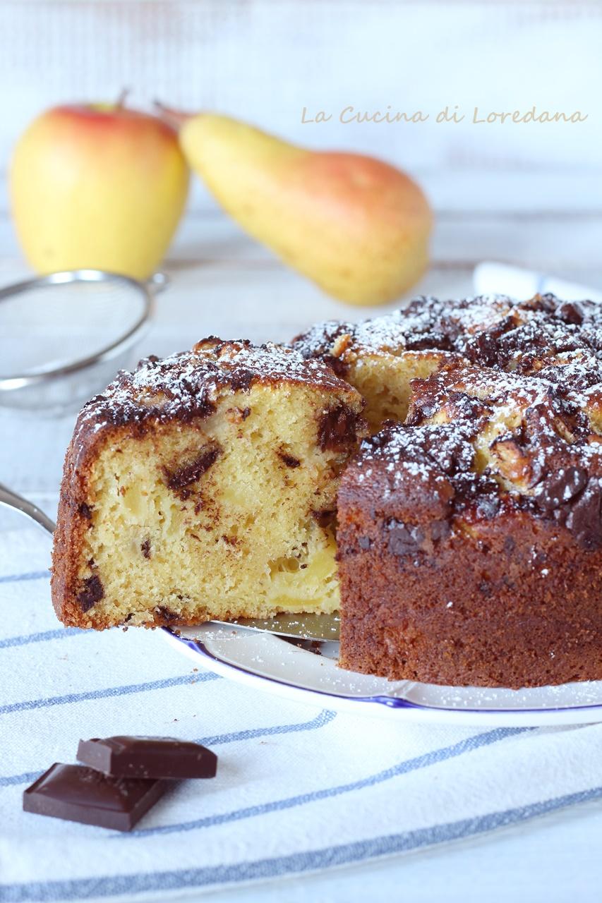 torta di mele pere e cioccolato