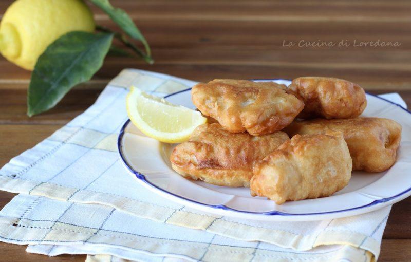 filetti di pesce persico in pastella