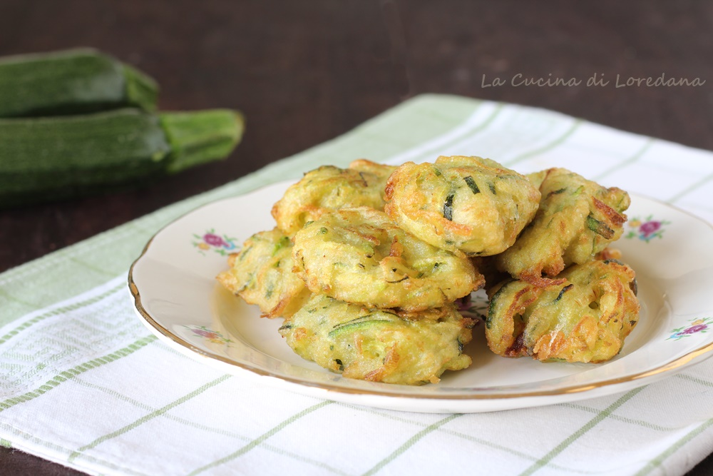 frittelle soffici con zucchine
