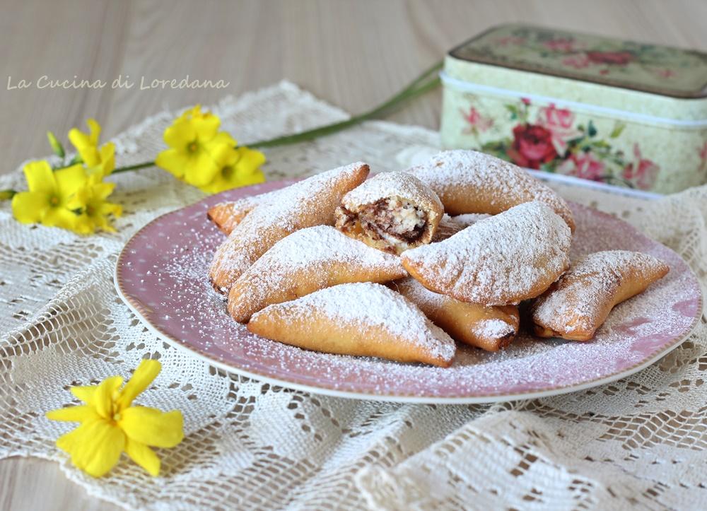 ravioli dolci con ricotta e cioccolato