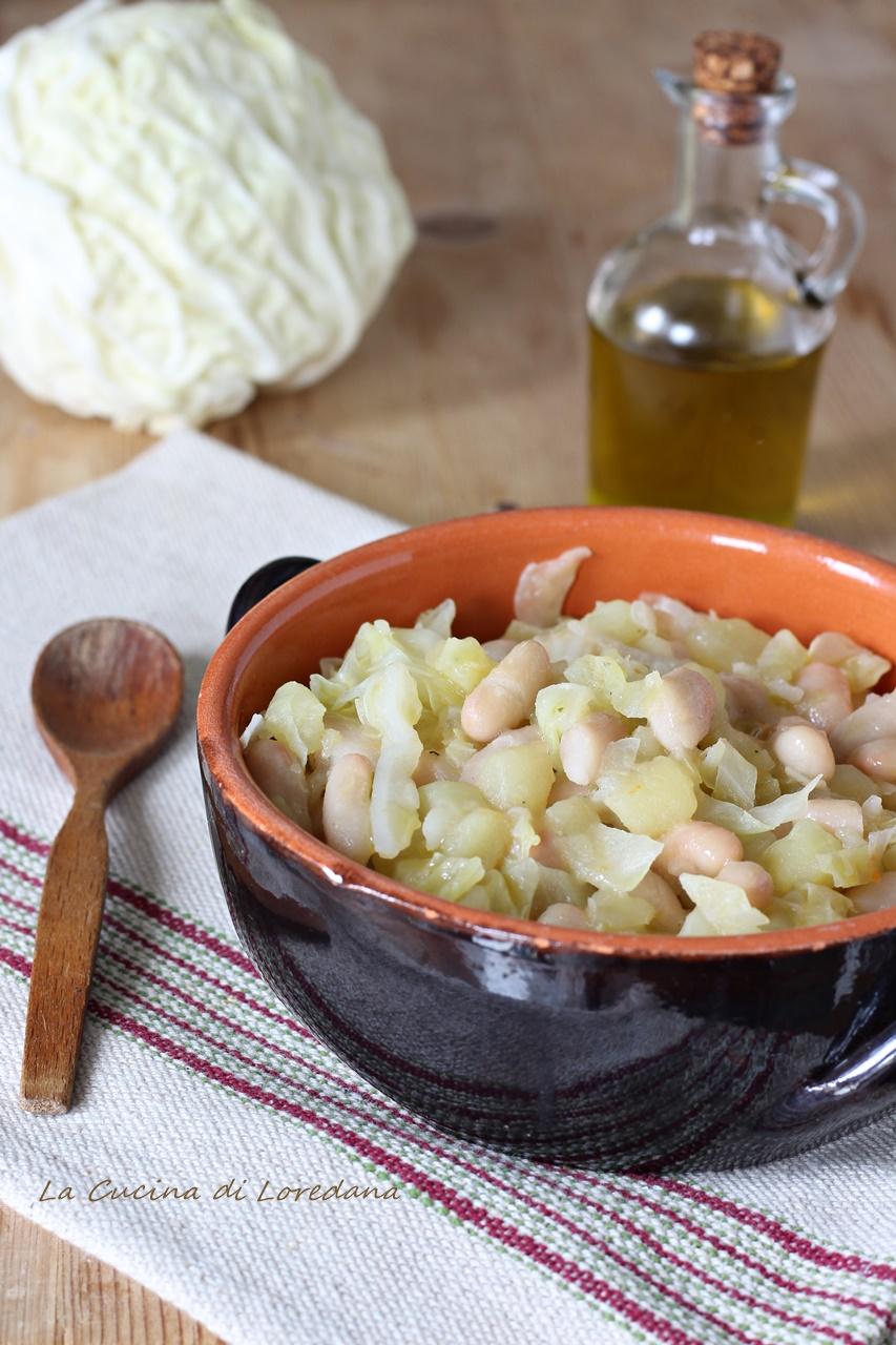 verza patate e fagioli