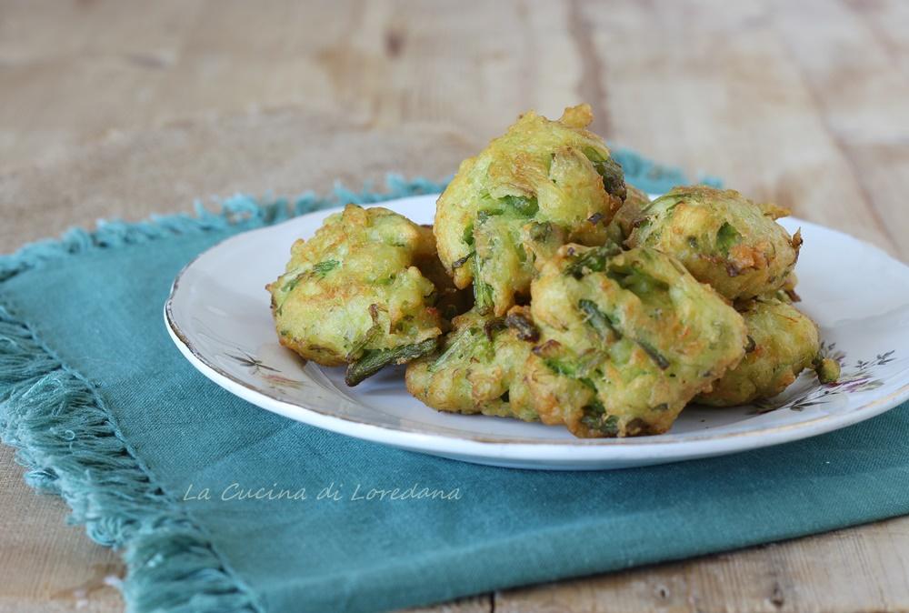 frittelle con asparagi