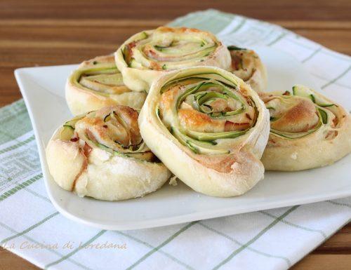 Girelle soffici con zucchine