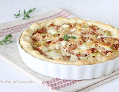 Torta salata con patate e prosciutto