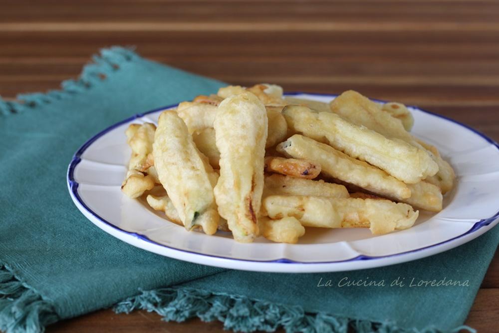 zucchine in pastella fritte