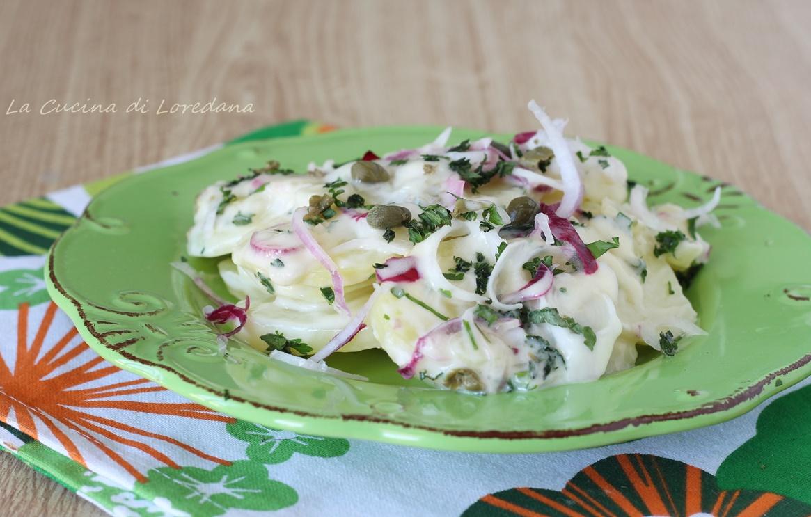 insalata di patate cremosa