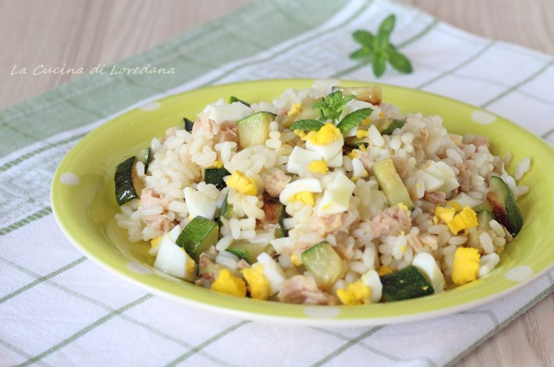 insalata di riso tonno e zucchine