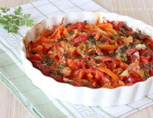 Peperoni gratinati in forno