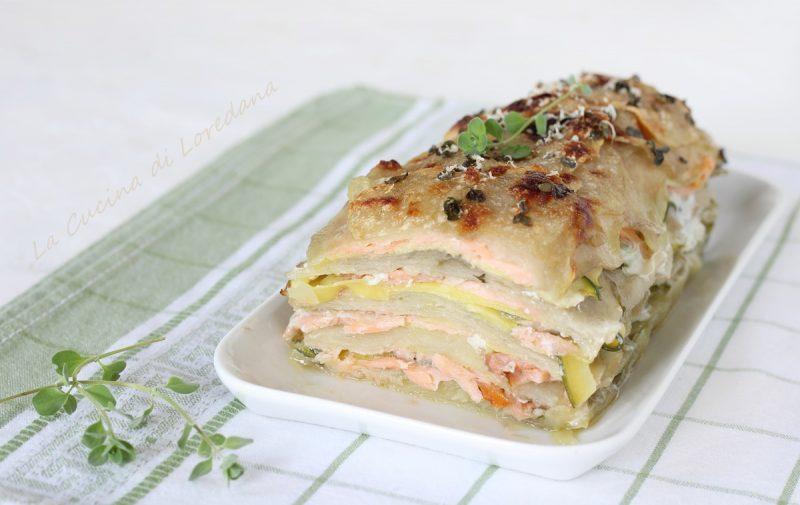 sformato di patate e salmone