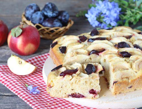 Torta di mele e prugne