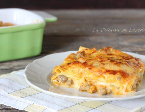 Lasagne alla zucca e salsiccia