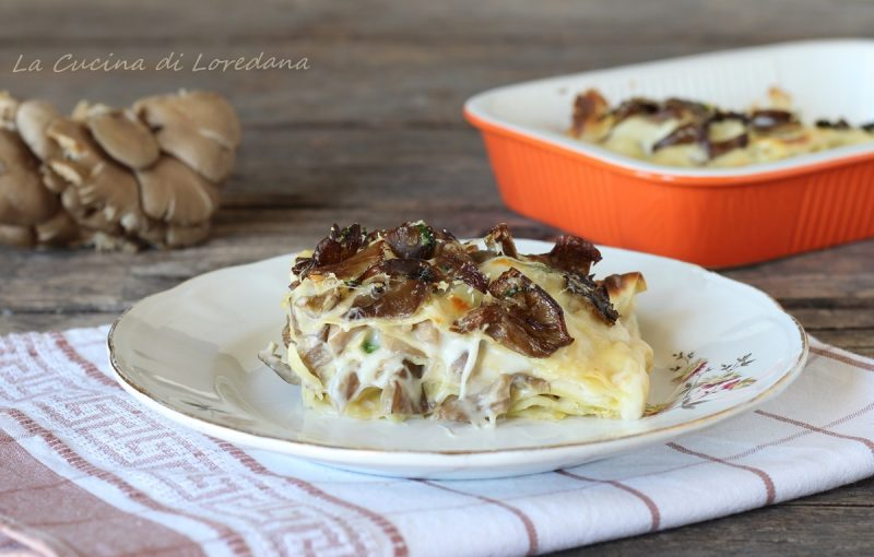 lasagne con funghi