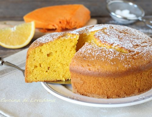 Torta zucca e arance