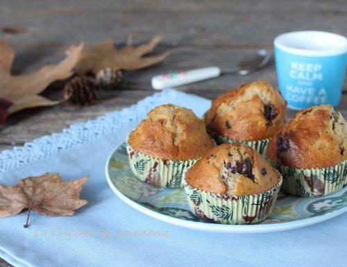 Muffin con banane e cioccolato