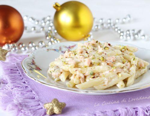 Pasta con salmone e pistacchi