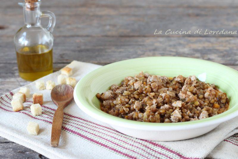 lenticchie con salsiccia