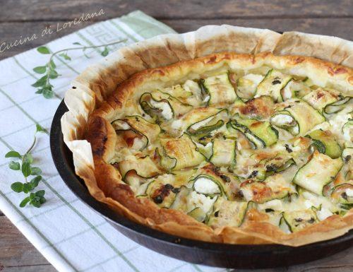 Torta salata con rotolini di zucchine