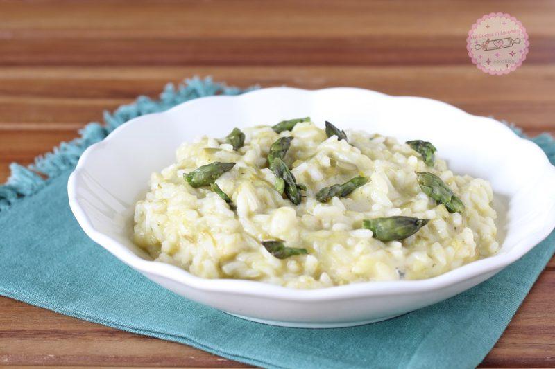 risotto con asparagi e gorgonzola
