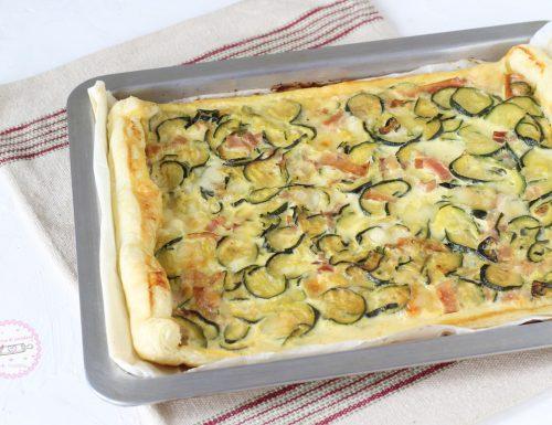 Torta salata zucchine e speck