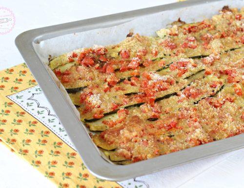 Zucchine gratinate con pomodori