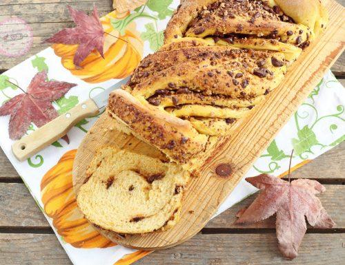 Pan brioche alla zucca e cioccolato