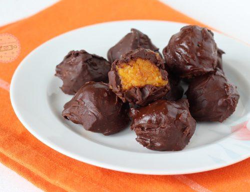 Tartufi zucca e cioccolato