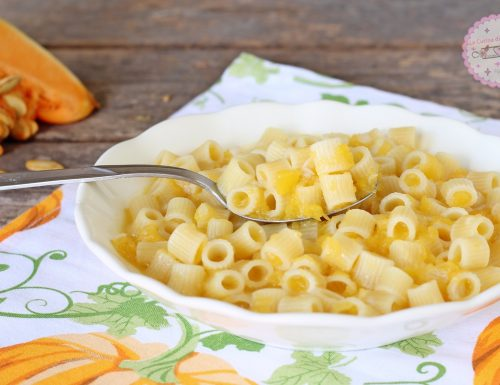 Pasta alla zucca risottata