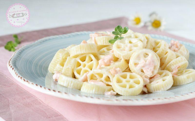 pasta con salmone