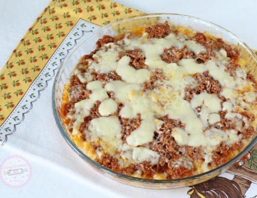 Polenta con ragù e mozzarella