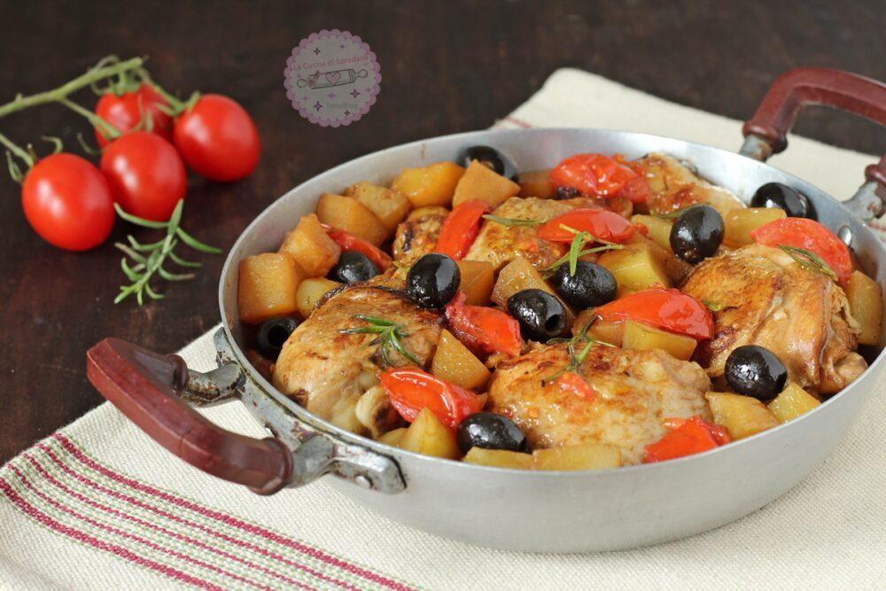 pollo con patate in padella