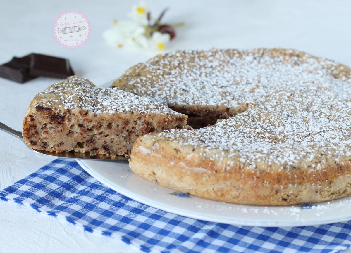 torta di ricotta con cioccolato