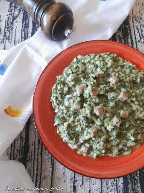 Risotto agli spinaci e prosciutto cotto_2