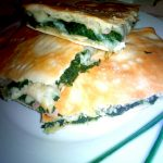 Pizza rustica con spinaci