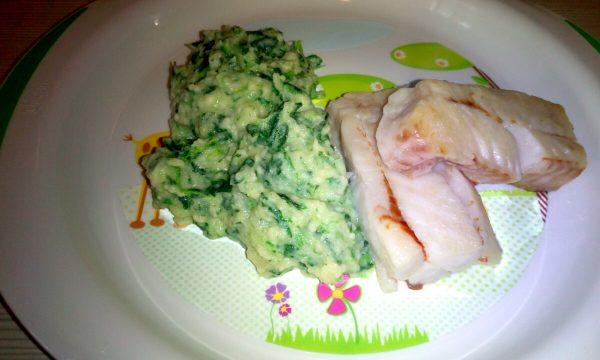 Purè di patate e spinaci
