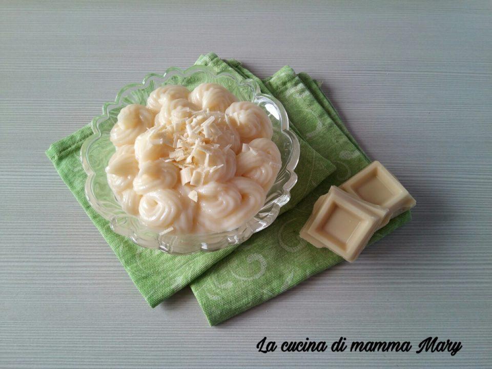 Crema pasticcera al cioccolato bianco 1