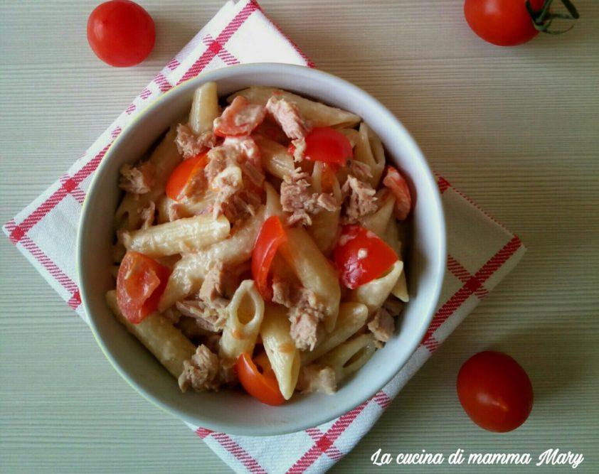 Pasta fredda con tonno pomodorini e maionese_1