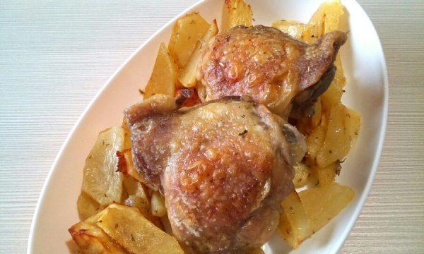 Sovracosce di pollo al forno con patate