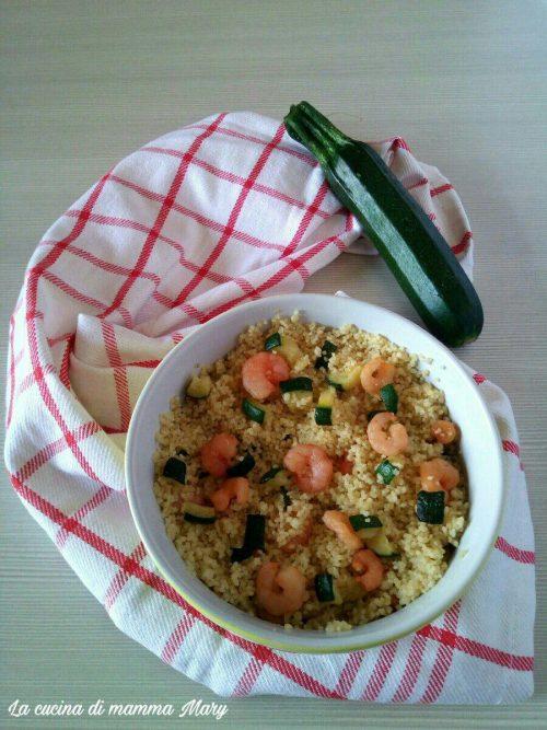 Cous cous con gamberetti e zucchine_2