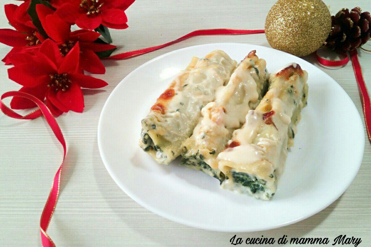 Cannelloni ricotta e spinaci in bianco
