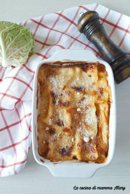 Lasagna con verza e salsiccia_2